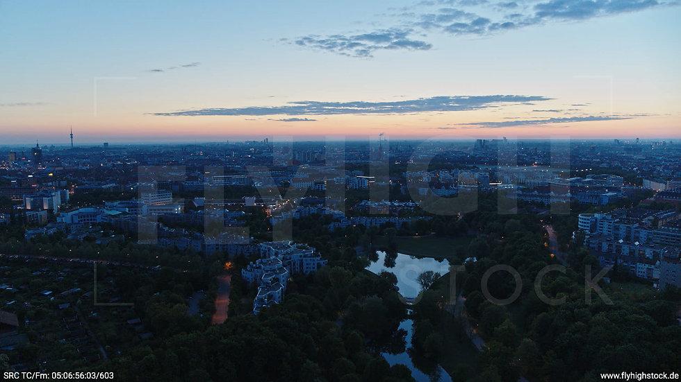 München Westpark Ost Skyline Hub morgens 3
