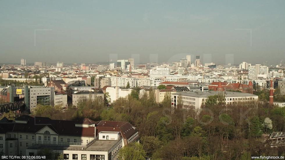 Berlin Hallesches Ufer West Skyline Zuflug morgens 2