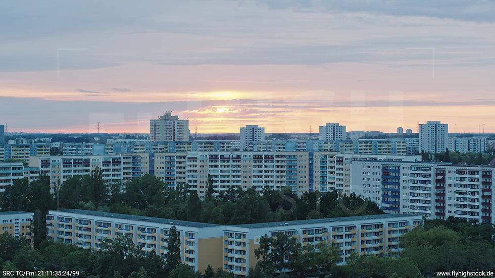 Berlin Marzahn Stadtteil-Shot Zuflug abends 4