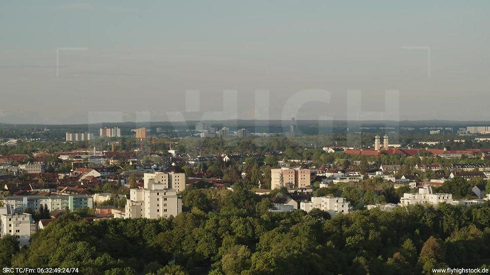 München Westpark Stadtteil-Shot Zuflug morgens 3