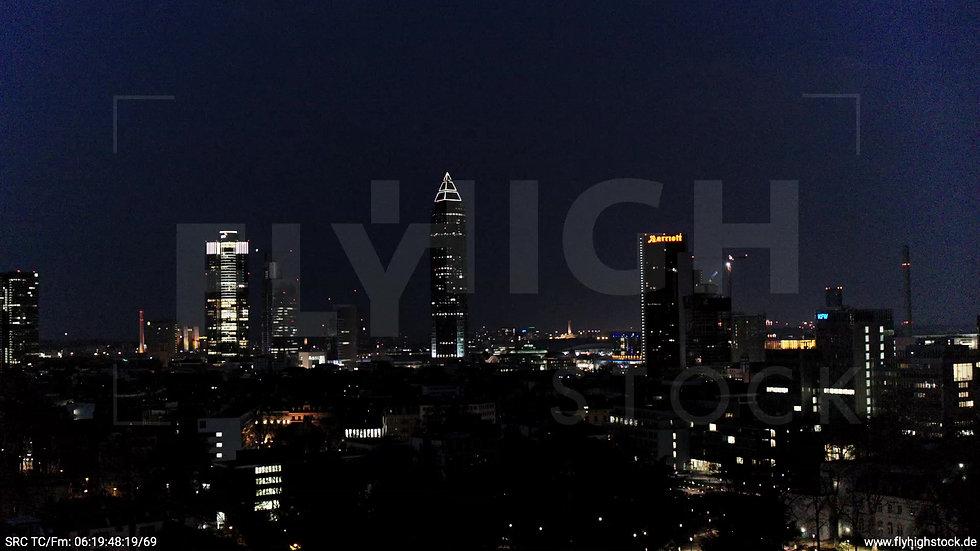 Frankfurt Grüneburgpark Rückflug Skyline nachts 3