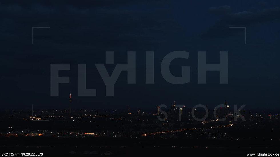 Frankfurt Skyline Rückflug abends 5