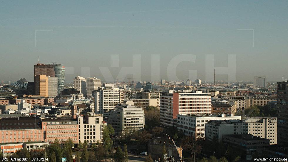 Berlin Hallesches Ufer Potsdamer Platz Skyline Hub morgens 2