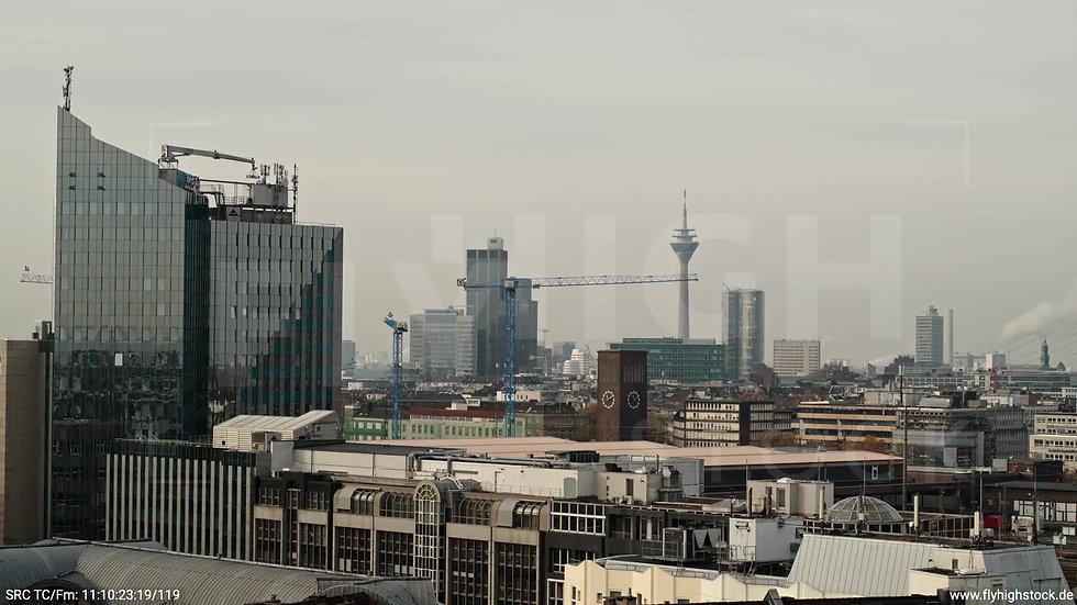 Düsseldorf IHZ-Park Skyline Rückflug tagsüber F006_C015