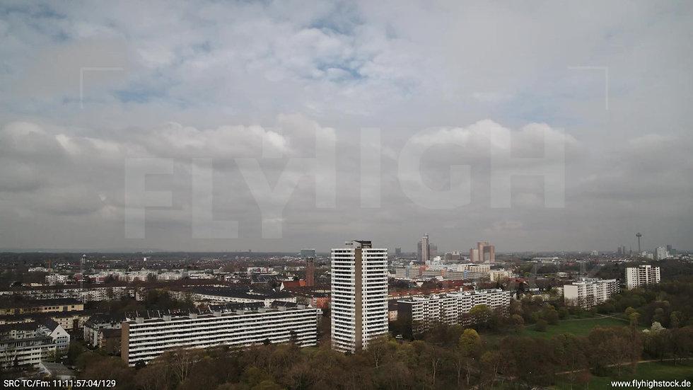 Köln Vorgebirgspark Hochhaus Zuflug tagsüber