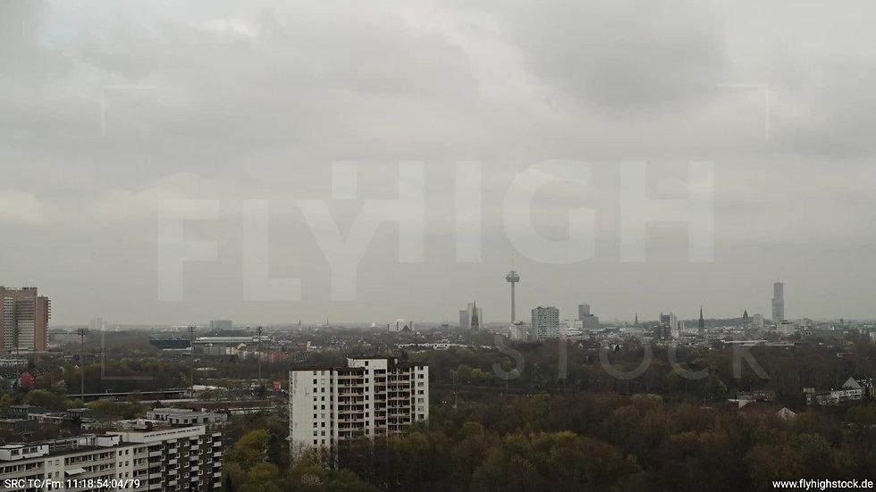 Köln Vorgebirgspark Skyline Rückflug tagsüber 4