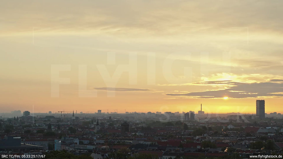 Berlin Hasenheide Allianz Skyline Rückflug morgens 2
