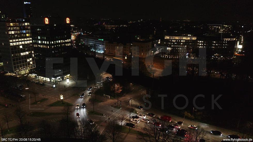 Hamburg Innenalster Rückflug nach oben Dammtor nachts