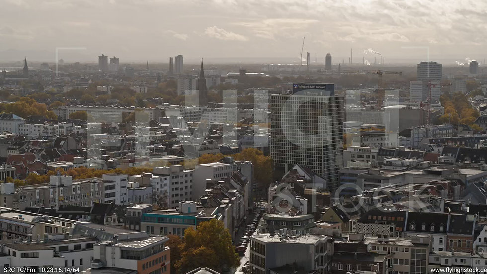 Köln Stadtgarten Rückflug nach unten C083_C010
