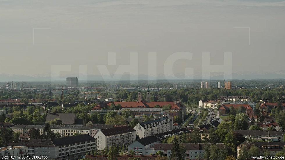 München Westpark West Stadtteil-Shot Zuflug tagsüber 6