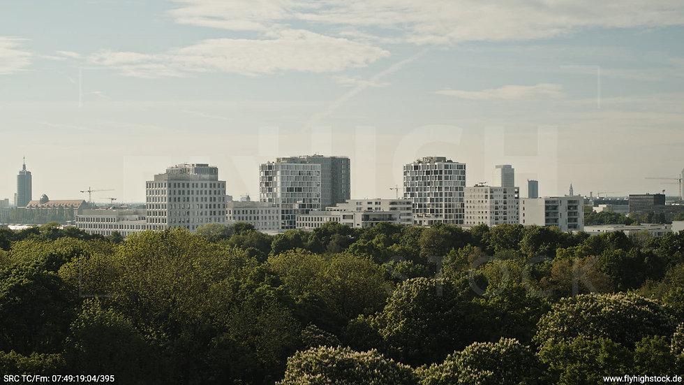München Hirschgarten Skyline Hub morgens 3