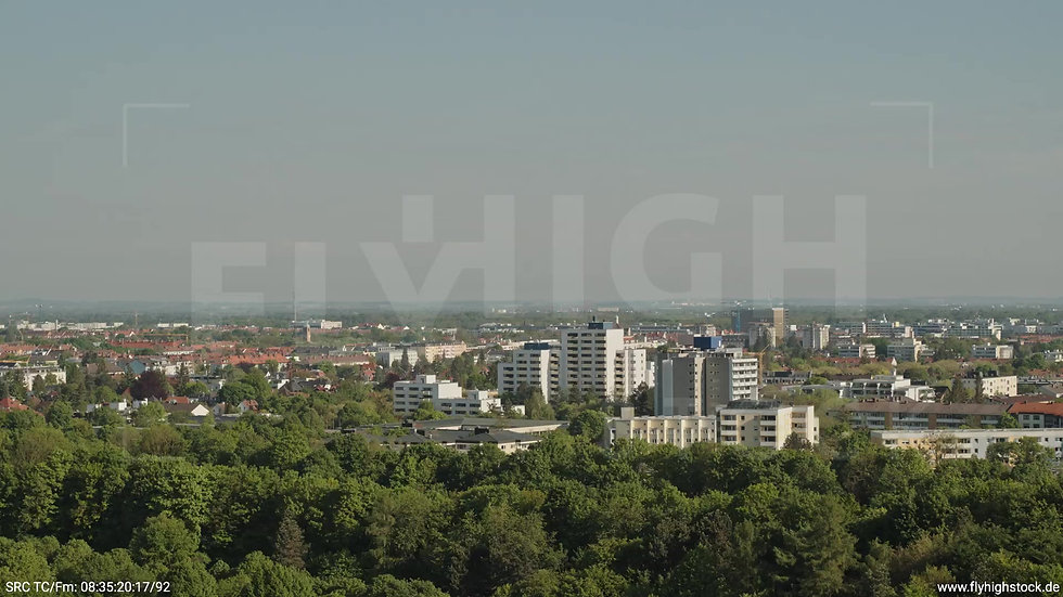München Westpark West Stadtteil-Shot Zuflug tagsüber