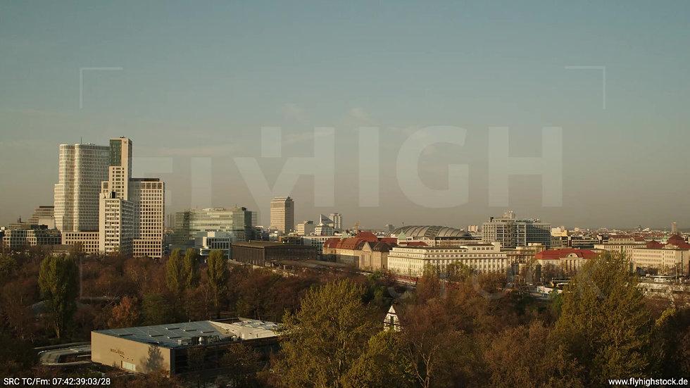 Berlin Tiergarten Zoo Skyline Hub morgens 3