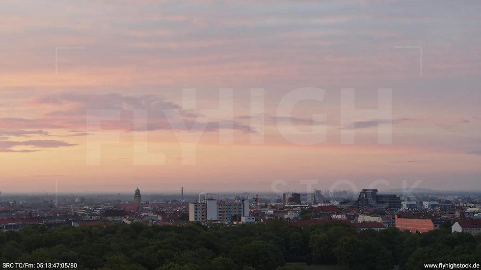 Berlin Hasenheide Neukölln Skyline Zuflug morgens
