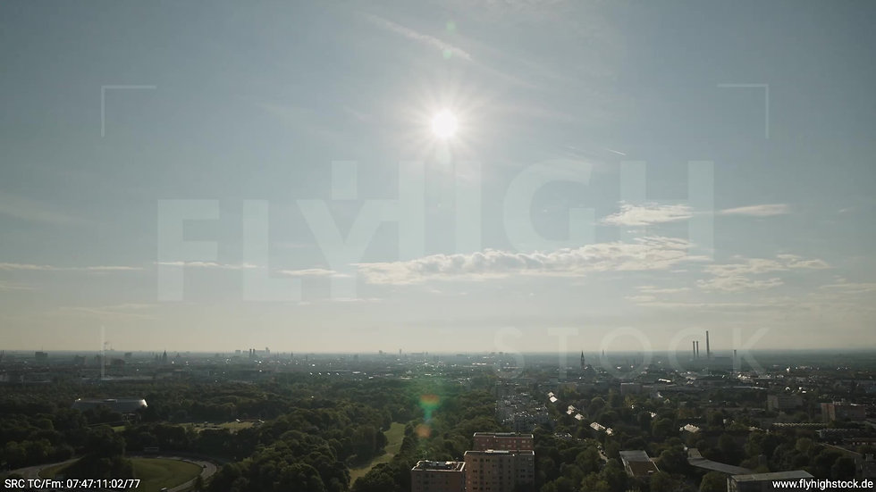 München Westpark West Skyline Rückflug tagsüber