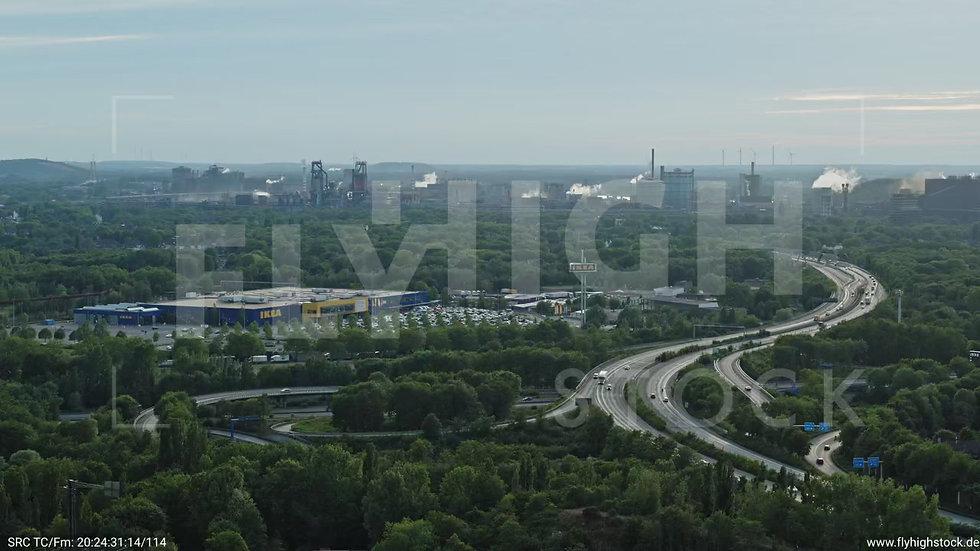 Duisburg Landschaftspark Duisburg-Nord Rückflug nach unten G012_C014