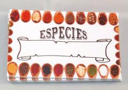 Stickers para condimientos/especies