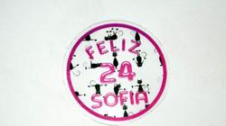Stickers Transparente Redondo