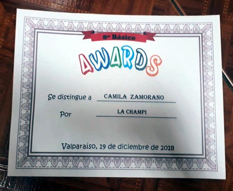 Diploma despedida de 8º Básico