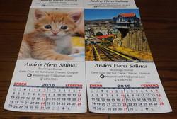 Calendarios 42x19.5 cm. 2016