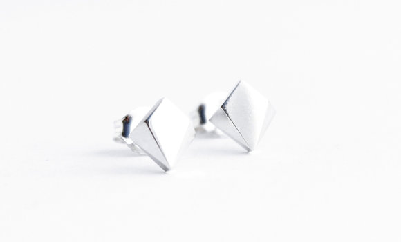 Square Facet Earrings