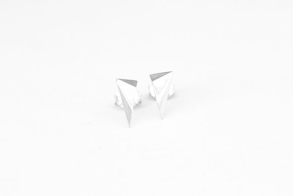 Triangle Facet Earrings I