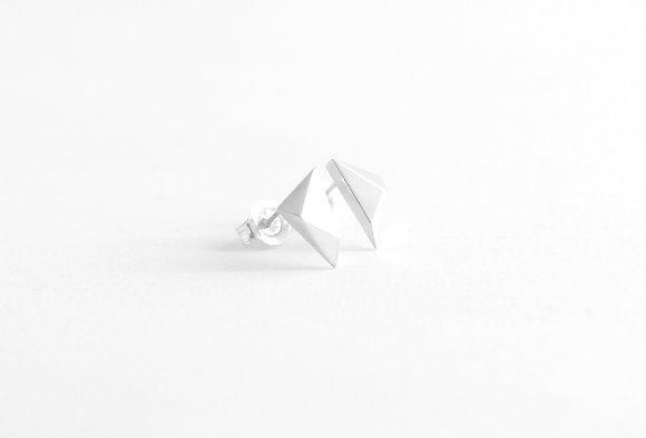 Triangle Facet Earrings II