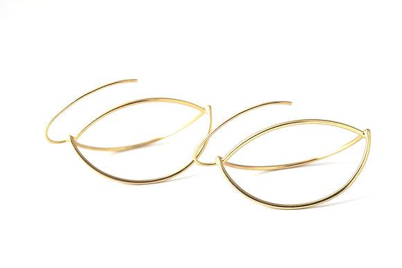 Abstract Hoop Earrings