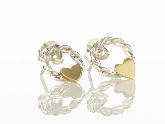 Heart Wreath Earrings