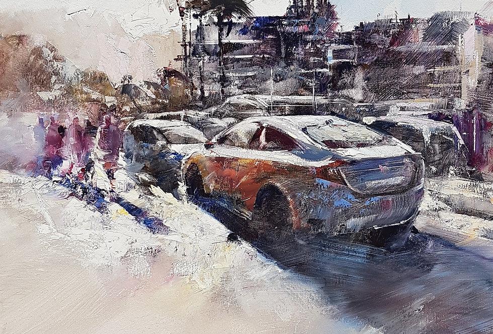 Cotxes a la platja (Palamos)