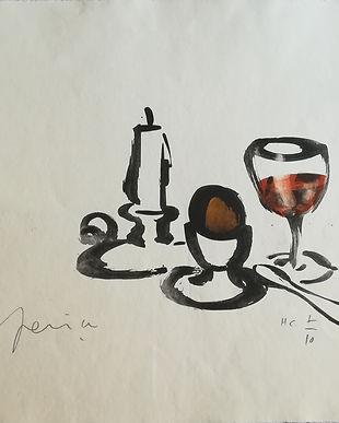 Litografia Repas Frugal I 50 x 65,5 cm..