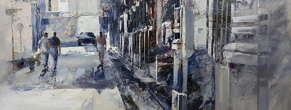 Calle con grises ( Caldes de Malavella )