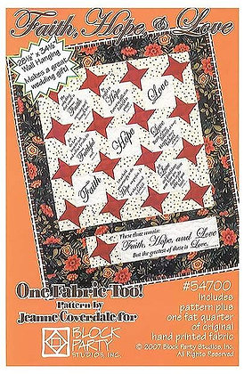 Block Party Faith, Hope and Love Panel and Pattern