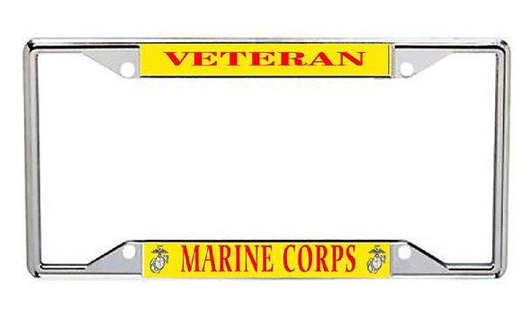 Veteran US Marine Corps Metal License Frame