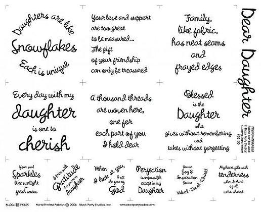 Block Party Dear Daughter Panel