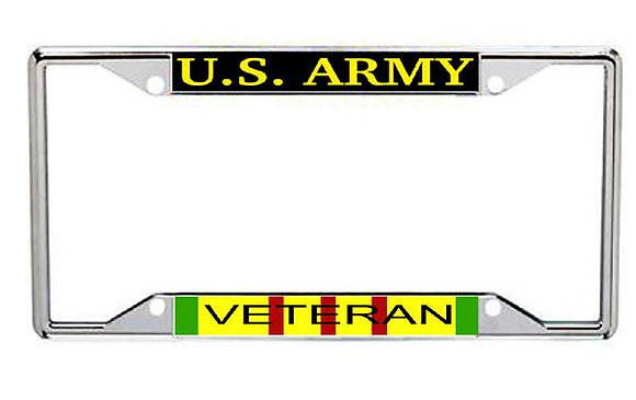 Vietnam Veteran US Army Metal License Frame
