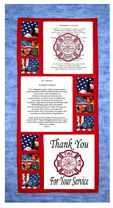 Fire Fighter Tribute Panels and Pattern Kit