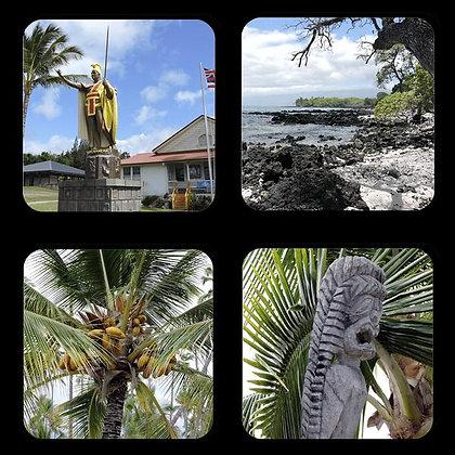Hawaii's Big Island Pictures Coaster Set of 4