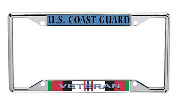 Afghanistan Veteran US Coast Guard Metal License Frame