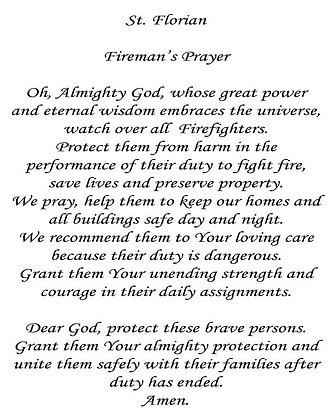 St. Florian's Prayer for Fire Fighters