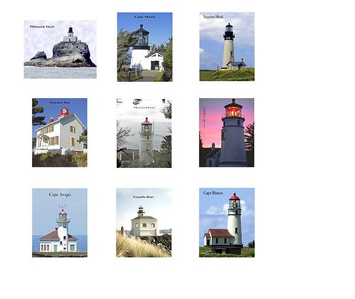 The Lighthouses of Oregon Quilt Square Kit