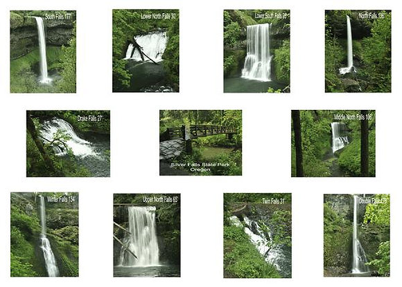Silver Fall State Park Oregon Photo Kit