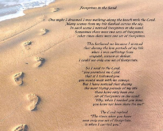 Footprints In The Sand Thought