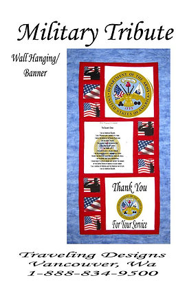 Military Tribute to US Army Wallhanging Quilt Kit