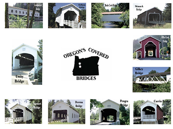 Covered Bridges Photo Quilt Squares