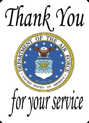 US Air Force Thank You For Your Service Banner Panel