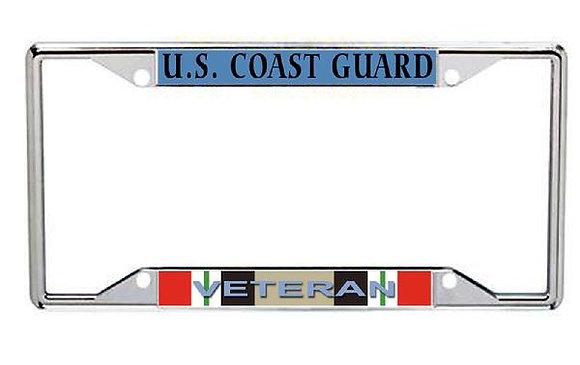 Iraq Veteran US Coast Guard Metal License Frame