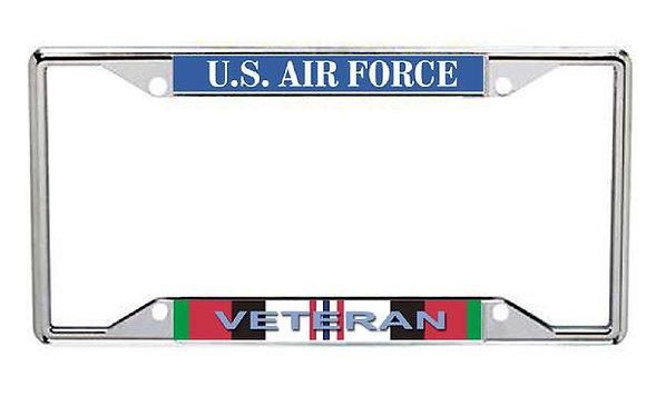 Afghanistan Veteran US Air Force Metal License Frame