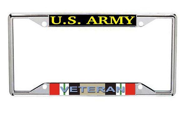 Iraq Veteran US Army Metal License Frame