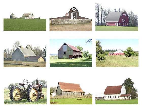 Barns of America Photo Quilt Squares